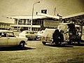 00186 Ehemalige Schlagbaum am Grenzübergang in Świecko Schwetig (1971).JPG