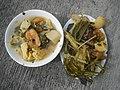 0099Nilagang repolyo, petsay Tagalog, kamote, patatas, kamatis at Pritong Dalag (Bulig) sa tanglad 22.jpg