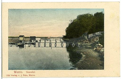 07732-Werro-1906-Seeufer-Brück & Sohn Kunstverlag