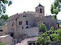 090 Castell de Vallfogona de Riucorb, angle nord-oest, des del camí del molí del Ferrer.jpg