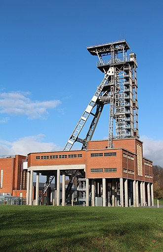 Coal mining - A coal mine in Frameries, Belgium.
