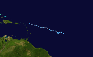 Track map of tropical depression