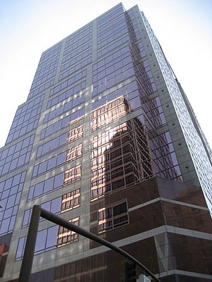 1000 Broadway - Looking up from street level.