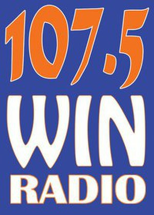 DWNU - 107.5 Win Radio logo (November 8, 2010-June 26, 2014)