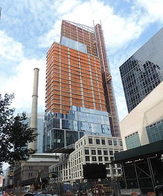 Tenth Avenue (Manhattan) - New residential tower at 60th Street