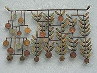 1170 Andergasse 10-12 - Ernest Bevin-Hof Stg 9 - Schmiedeeisen Blattornamente I von Rudolf Hoflehner 1958 IMG 4771.jpg