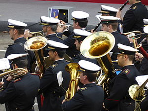 Fiesta Nacional de España - Naval parade in Madrid, 2014