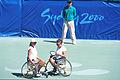 141100 - Wheelchair tennis Daniela Di Toro Branka Pupovac talk - 3b - 2000 Sydney match photo.jpg