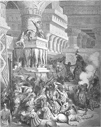 Jonathan Apphus - Jonathan destroying the temple of Dagon, by Gustave Doré