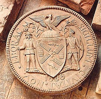 Seal of New York City - Alternate design of the City of New York charter seal using the 1686 charter date
