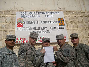 16th Sustainment Brigade - 16th Sustainment Brigade soldiers in Iraq.