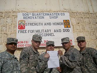 16th Sustainment Brigade - 16th Sustainment Brigade soldiers in Iraq.