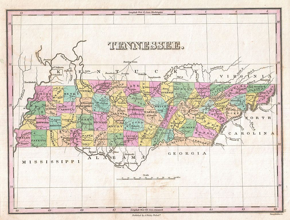 File1827 Finley Map Of Tennessee  Geographicus