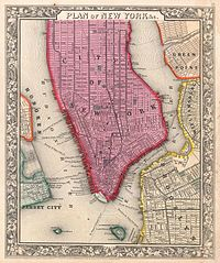 Map Of New York 1850.History Of New York City 1855 1897 Wikipedia