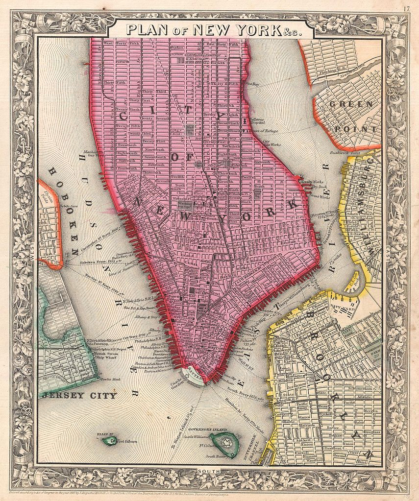 file1860 mitchell map of new york city new york first edition geographicus nyc mitchell 1860jpg