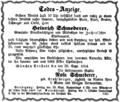 1864-09-28 Todes-Anzeige Heinrich Schmederer (Münchener Bote).png