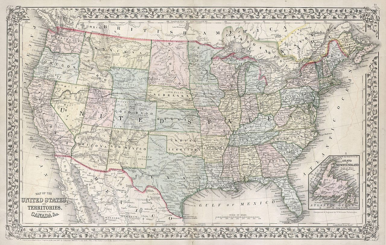 Picture of: File 1867 Mitchell Map Of The United States Geographicus Unitedstates Mitchell 1867 Jpg Wikimedia Commons