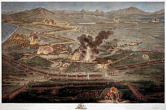 Great Siege of Gibraltar - A detailed view of the sortie from above the Prince's Lines
