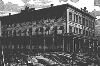 The Dalles, Oregon - The Umatilla House hotel circa 1880