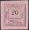 1884 stamp of Guadeloupe.jpg