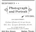 1894 Bedford photo studio of Dallas Texas advert.png
