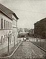1900 körül. Margit híd, Margit körút a Margit utcából nézve.jpg