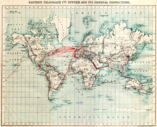 World map of telegraph density