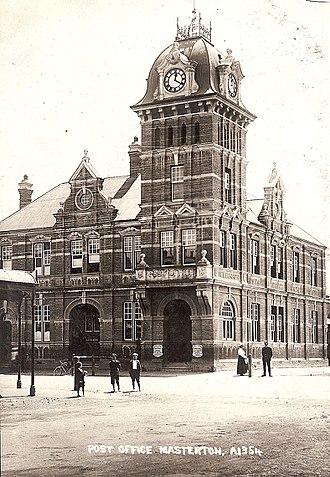 Masterton - The Post Office opened 1900 demolished 1960