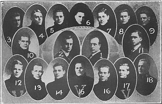 Ammie Sikes - The 1914 Vanderbilt Commodores. Sikes is bottom right.