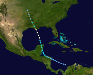 1920 Atlantic hurricane season - Image: 1920 Atlantic hurricane 2 track