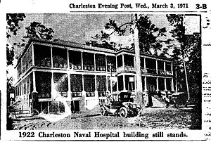 Charleston Naval Hospital Historic District - Charleston Naval Hospital in 1922, North Charleston