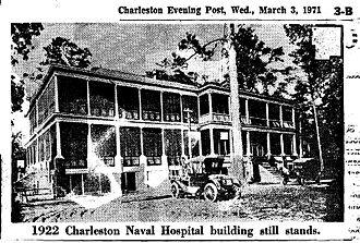 Charleston Naval Hospital Historic District - Charleston Naval Hospital in 1922, North Charleston