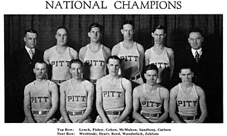 Doc Carlson - The undefeated 1927–28 Pitt National Championship team featured Naismith Hall of Fame inductee Charley Hyatt.
