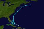 1937 Atlantika tropika ŝtormo 2 track.png
