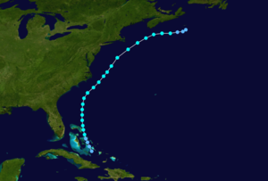 1937 Atlantic hurricane season - Image: 1937 Atlantic tropical storm 2 track