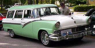 Ford Country Sedan - Image: 1956 Ford Station Wagon A3305