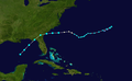 1957 Atlantic tropical storm 1 track.png