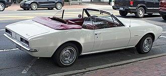 Chevrolet Camaro (first generation) - 1967 Camaro convertible, base six-cylinder model