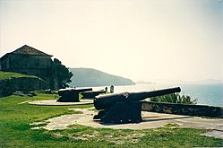 Artillery defence of the Santa Cruz de Anhatomiri Fort.