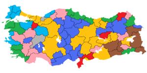 Turkish local elections, 1999 - Image: 1999 Türkiye yerel seçimleri
