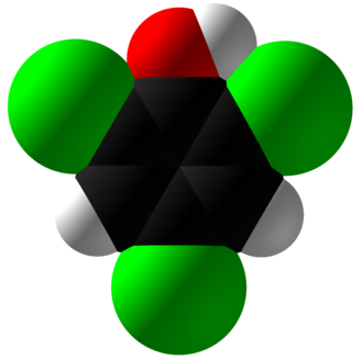 2,4,6-Trichlorophenol - Image: 2,4,6 Trichlorophenol Space Fill