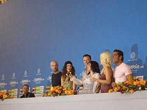 Eurovision Song Contest - Switzerland hosting a press conference at Eurovision 2006.