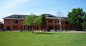 Lake Superior State University - The Administration Building was originally the Quartermaster's building in Fort Brady.