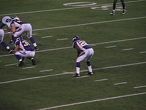 Halfback (American football) - Adrian Peterson lined up at halfback