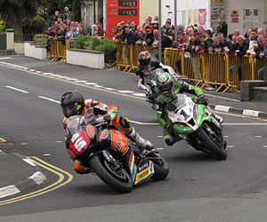 Ramsey, Isle of Man - 2013 TT races through Parliament Square
