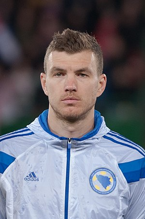 Edin Džeko - Džeko with Bosnia and Herzegovina in 2015