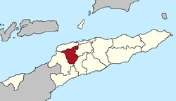Map of East Timor highlighting Ermera District