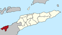 Map of East Timor highlighting Oecusse SAR