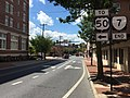 2016-08-23 14 09 31 View west along Virginia State Route 7 (Piccadilly Street) at U.S. Route 11 and U.S. Route 522 (Cameron Street) in Winchester, Virginia.jpg