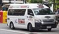 2016 Toyota HiAce (KDH223R) Commuter Super LWB van, Black & White 13 MAXI (2018-11-22) 01.jpg